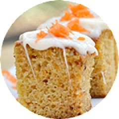 Carrot Bread & Lemon Glaze Frosting