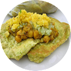 Doubles Bara & Curried Channa