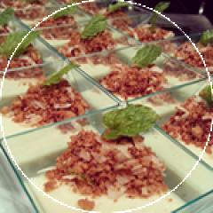 Coconut Cardamom Panna Cotta