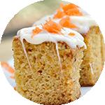 Carrot Bread _ Lemon Glaze